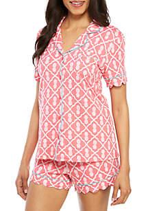 Crown & Ivy™ 2 Piece Pajama Top and Shorts Set