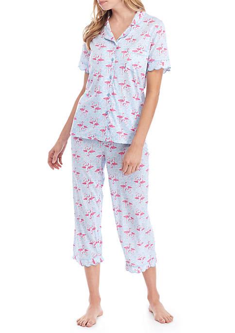 Crown & Ivy™ Scalloped Notch Pajama Set