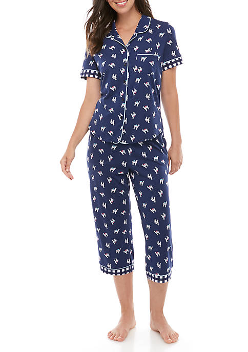 Crown & Ivy™ Notch Collar Capri Sleep Set
