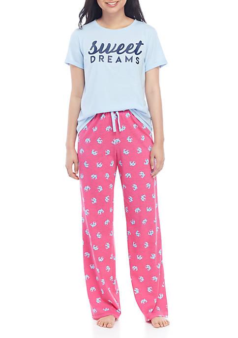 Crown & Ivy™ 3 Piece Pajama Set