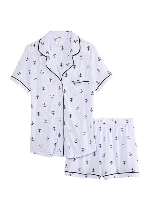Crown & Ivy™ Notch Collar Shortie Pajama Set
