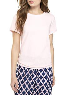 Crown & Ivy™ Rolled Sleeve Sleep Tee