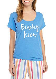 Crown & Ivy™ Drop Shoulder Graphic Pajama Tee