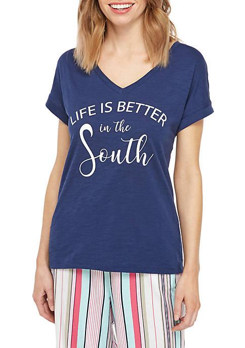 Crown & Ivy™ Drop Shoulder Sleep T Shirt