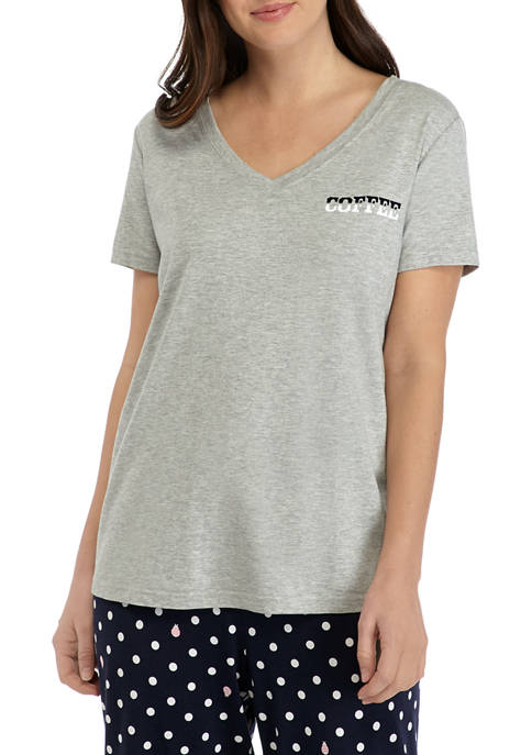 Crown & Ivy™ Womens Short Sleeve V Neck