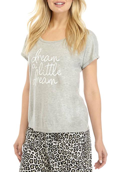 Crown & Ivy™ Short Sleeve Scoop Neck T-Shirt