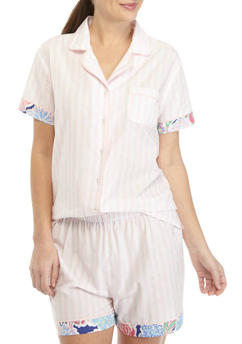 Crown & Ivy™ Womens Woven Short Sleeve Sleep