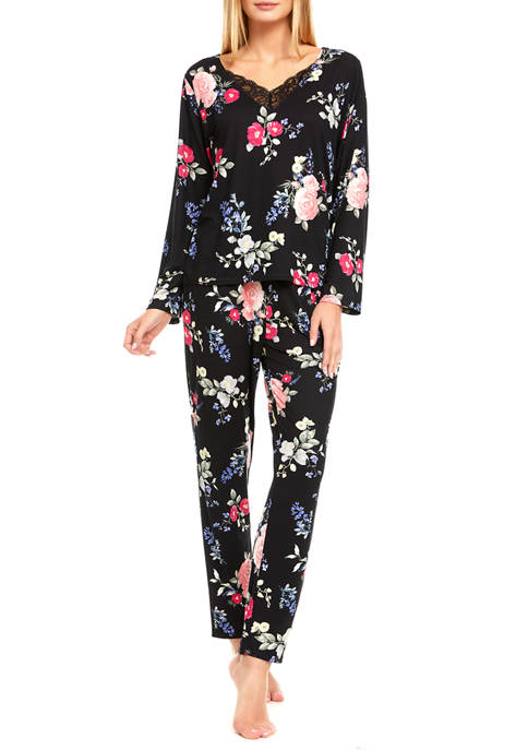 Flora by Flora Nikrooz Miley Printed Knit Pajama