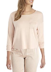 Kaari Blue™ Long Sleeve Mixed Fabric Top