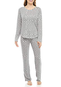 New Directions® 2-Piece Hacci Pajama Lounge Set