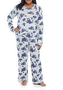 Plus Size Hacci Lounge Pajama Set