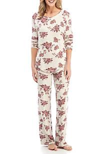 615ba118b0 ... New Directions® 2-Piece Floral Pajama Set