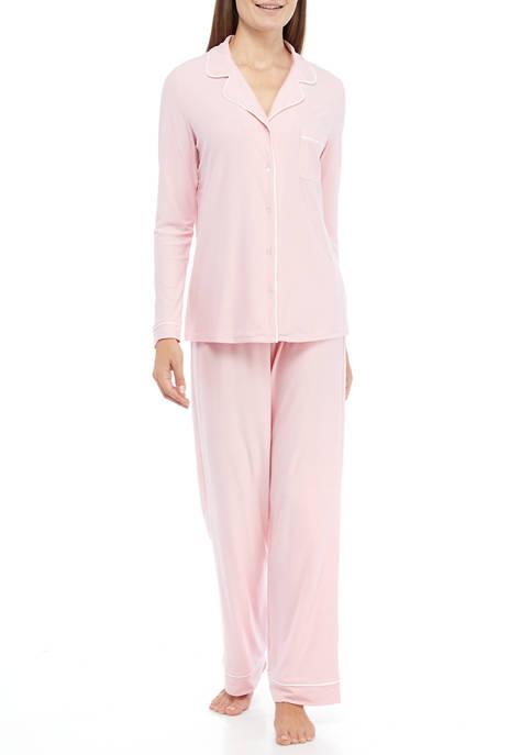 Crown & Ivy™ Yummy Knit Notch Collar Pajama