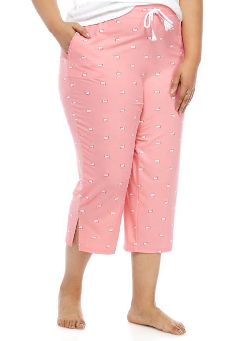 Crown & Ivy™ Plus Size Yummy Capri Pajama