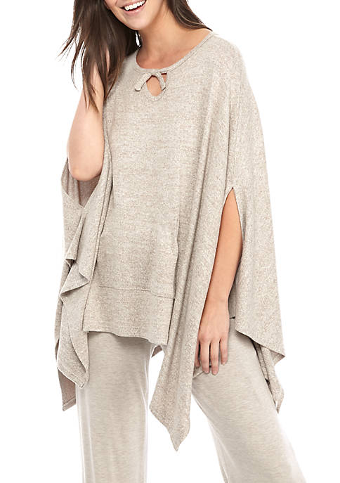 New Directions® Cozy Marled Hacci Knit Sleep Poncho