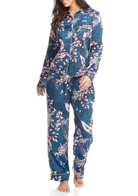Kaari Blue™ 2 Piece Falling Leaves Notch Pajama