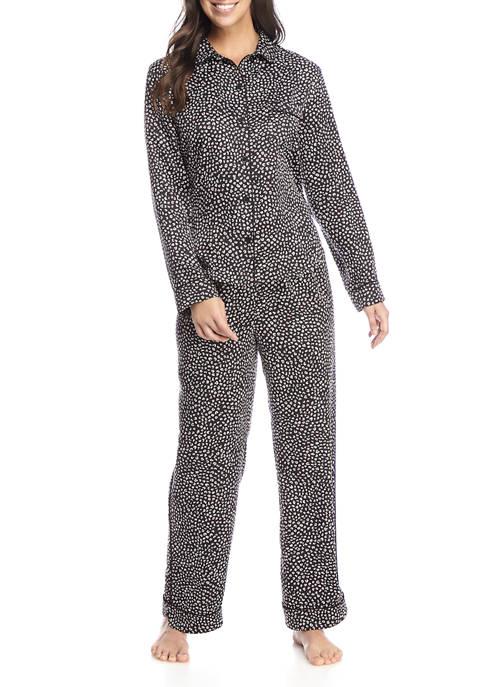 Kaari Blue™ 2 Piece Ditsy Leopard Notch Collar