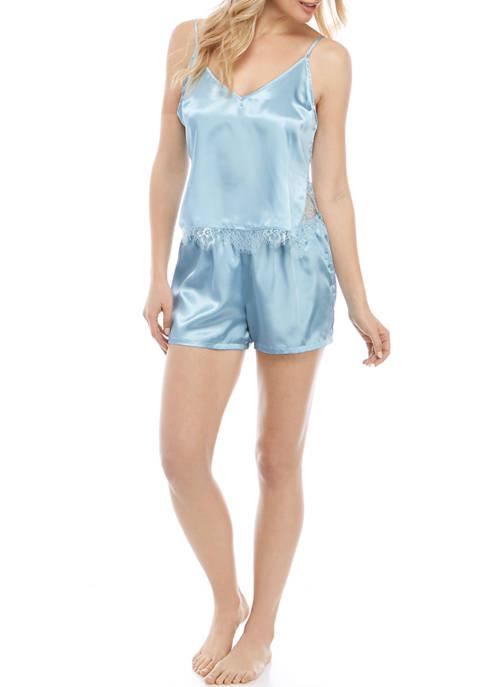 Kaari Blue™ Matte Satin Tank Shorty Pajama Set