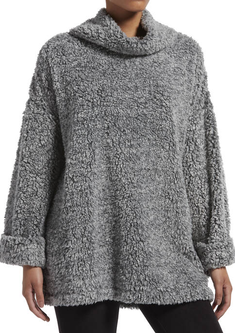 KENDALL + KYLIE Marled Cowl Neck Bed Jacket