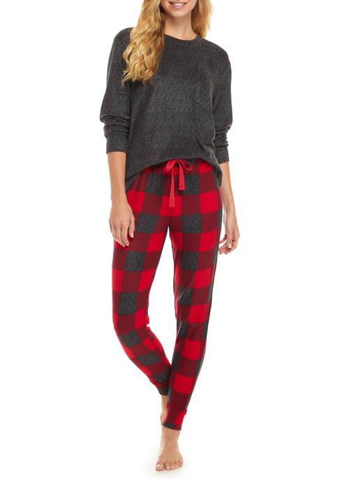 Roudelain Fuzzy Luxe 3-Piece Pajama Set