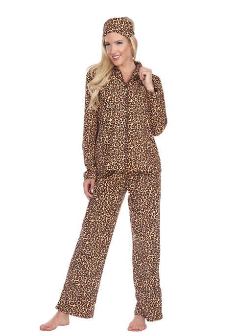 White Mark 3 Piece Pajama Set