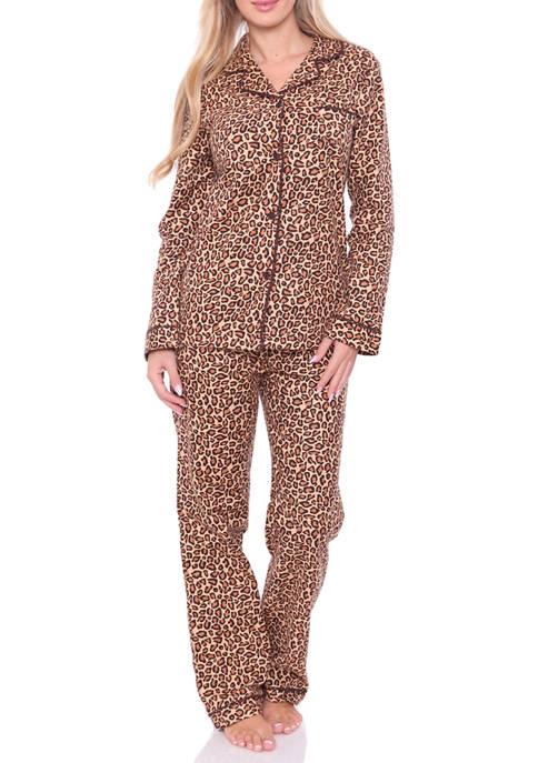 2 Piece Flannel Pajama Set