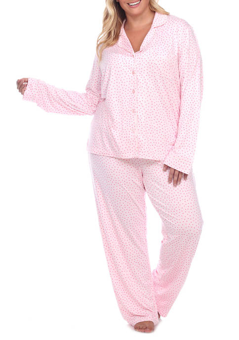 Plus Size Long Sleeve Pajama Set
