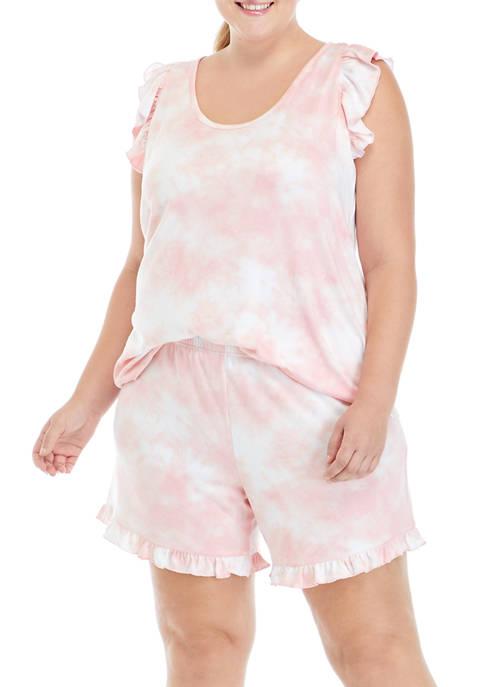 Plus Size Hacci Clouds Pajama Set