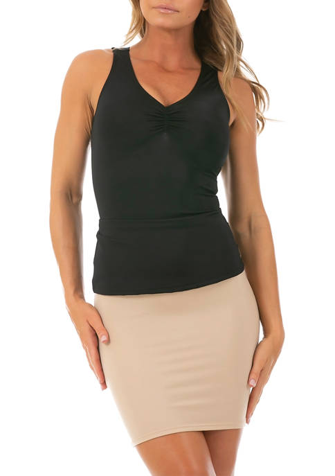 InstantFigure Shirred Tank Top