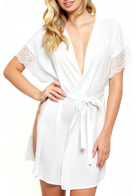 iCollection Sherry Lace High Slit Robe
