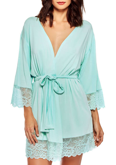 iCollection Alina Lace Overlay Modal Robe