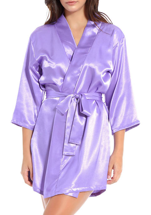 Lyla Lux Satin Short Robe
