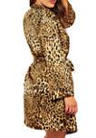 Plus Size Jada Leopard Satin Robe