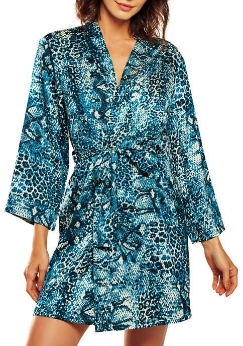 iCollection Jada Leopard Satin Robe