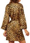 Jada Leopard Satin Robe