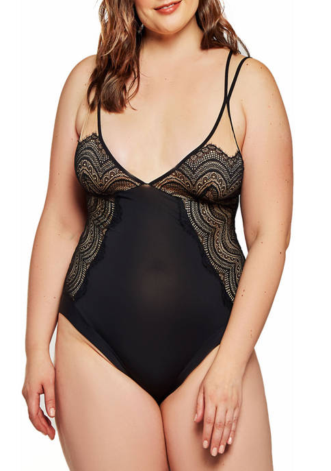 iCollection Plus Size Tanya Lace Overlay Day and
