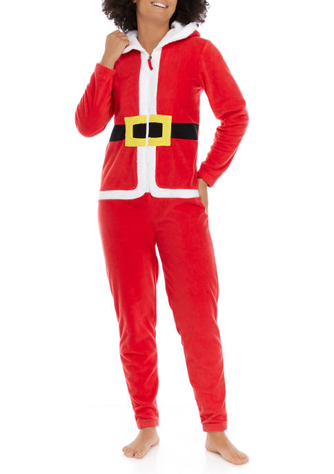 PAJAMARAMA Team Santa Elf Adult Family One Piece