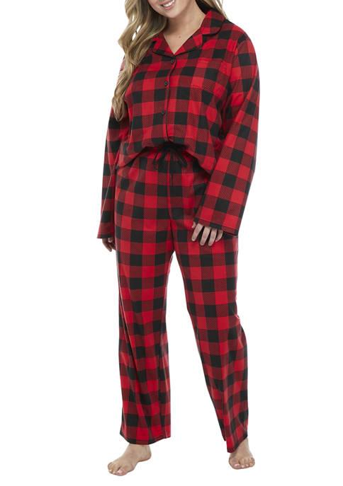 Plus Size Buffalo Notch  Family Pajama Set