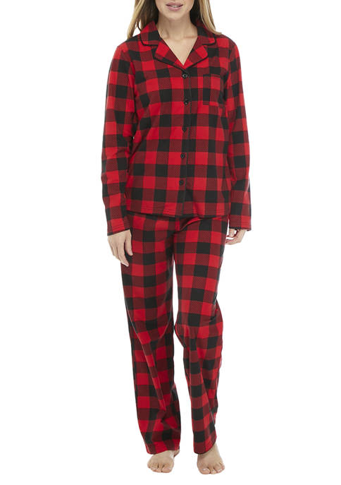 PAJAMARAMA Buffalo Check Pajama Set