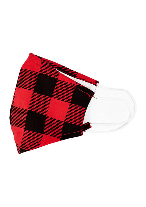 SAFETY SMILE Adult Classic Buffalo Check Face Mask
