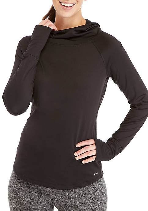 Maidenform® Sport Baselayer Funnel Neck Hooded Top
