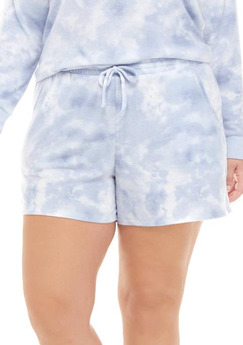 Plus Size Tie Dye Hacci Shorts