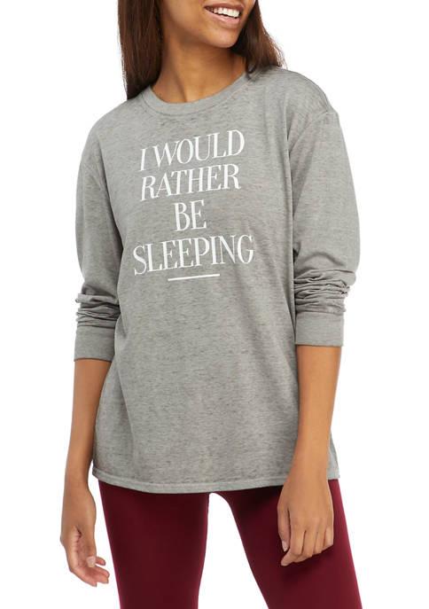 Fifth Sun Womens Long Sleeve Graphic T-Shirt