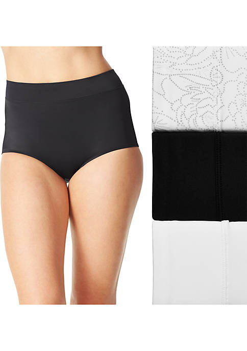 3-Pack Women's No Pinching No Problems Tailored Brief -5738J3