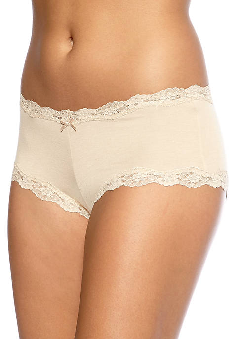 Maidenform® Scalloped Lace Trim Modal Cheeky Hipster Briefs