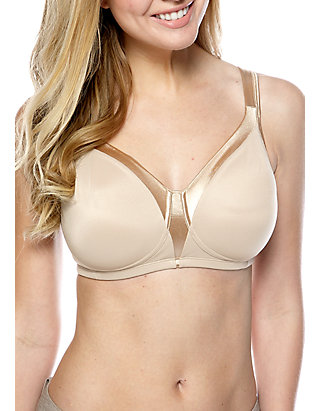 PLAYTEX 18 HOUR SLEEK AND SEAMLESS WITH BACK SMOOTHING BRA NUDE