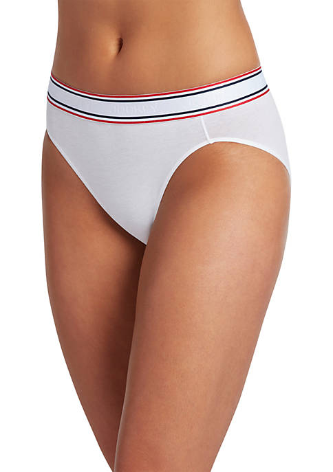 Jockey® Retro Stripe High Cut Panty