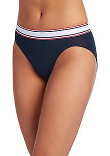 Retro Stripe High Cut Panty