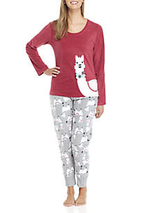2-Piece Llama Pajama Set
