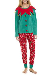 2-Piece Elf Pajama Set